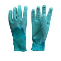 China Red Latex Double Coated Work Glove Crinkle Palm wholesale