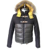 China Short Fur Hooded Down Coat on sale