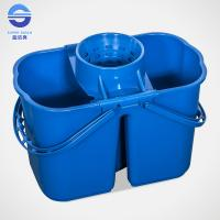 China Blue 15L Commercial Double Mop Bucket Cleaning Tools 43*24*27cm on sale