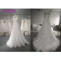 China Luxury Blush Sequins Lace Bridal Gowns Plus Size With Train Lace Up Back on sale