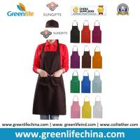 China 100%Polyester advertise apron assorted colors customized logo available for cooking clean wholesale