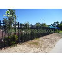 China Anti Ultraviolet  Spear Top Fencing Panels With 65 × 65mm Square Tube Post on sale