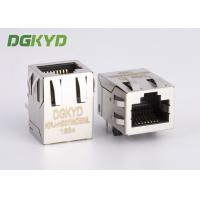 China Through hole RJ45 Female Jack  , 8 Pin cat5 rj45 connector with magnetics wholesale