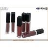China Matte Lip Plumping Lip Gloss , Flavored Lip Gloss Makeup Base Function wholesale