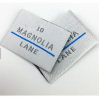 China Private Brand Name Logo Neck Damask Endfold Woven Fabric Labels for Custom T - shirt wholesale