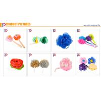 Eco-Friendly Colorful Shower Ball Mesh Baby Bath Flower