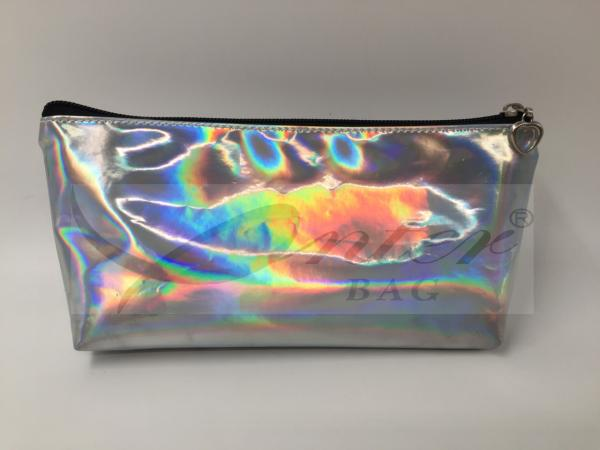 Quality Laser PU Hologram Travel Cosmetic Bags , Small Makeup Pouch With Zipper for sale