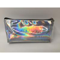China Laser PU Hologram Travel Cosmetic Bags , Small Makeup Pouch With Zipper wholesale