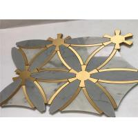 China Special Design Marble Stone Metal Mosaic Tile Regular Interior Wall Tile wholesale
