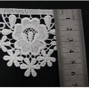 China Little Flower Around crochet lace trim Poly Milk White Flexible wholesale
