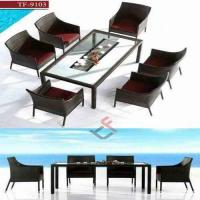 China PE Rattan Wicker Restaurant Dining Room Furniture on sale