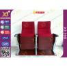 China Asiento del teatro del auditorio de las piernas de la base de la aleación de aluminio con la chapa de madera de la ceniza acabada wholesale