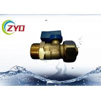China M1/2 X 16 Full Port Brass Plumbing Valves Aluminum Level Handle CE Approval on sale