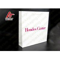 China White Card Paper Material Promotional Carrier Bags , Branded Promotional Products Bags wholesale