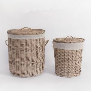 Cheap Storage Rattan Wicker Willow Laundry Basket With Lid Fashion Natural Baskets ECO Friendly Storage Factory Supply