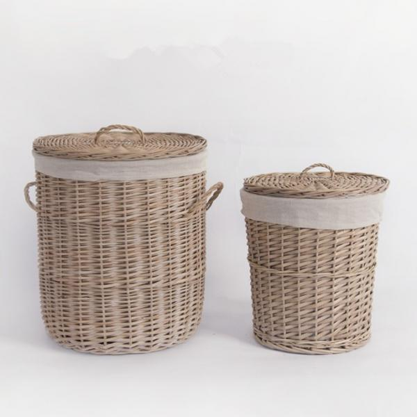 Quality Cheap Storage Rattan Wicker Willow Laundry Basket With Lid Fashion Natural Baskets ECO Friendly Storage Factory Supply for sale