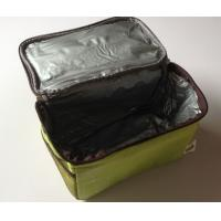 China Nonwoven Zippered Fast Food Thermal Delivery Bag , Take Out Portable Thermal Lunch Bag wholesale