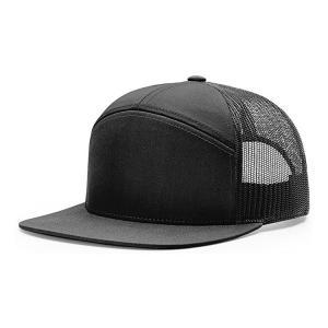China 56CM 7 Panel Trucker Cap Richardson Blank Flat Brim 958 Snapback Hat For Men wholesale