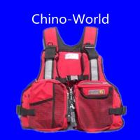 China Red color fishing vest wholesale