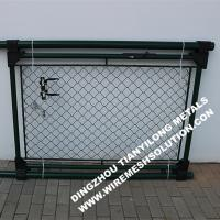 China RAL6005 55mm Chain Link Fence , Wire Mesh Fence Panels Gate For Garden wholesale