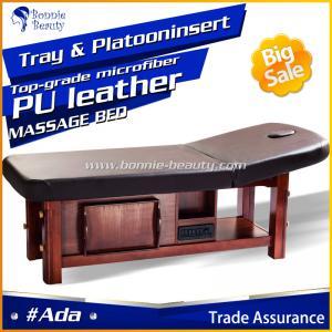 China Solid Wooden SPA Adjustable Height Shiatsu Massage Table wholesale
