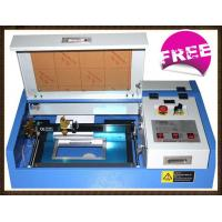 Buy cheap CNC CO2 Mini Laser Engraving Machine For Metal / Leather / Cloth 300 X 200mm from wholesalers
