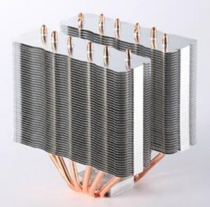 China poder más elevado de aluminio del disipador de calor de las aletas del tubo de calor del cobre 6PCS wholesale