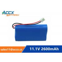 18650 11.1V 2600mAh li-ion battery pack with pcm protection