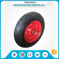 China Carbon Steel Pneumatic Rubber Wheels Ball Bearing , Pneumatic Wagon Wheels OEM wholesale