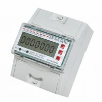 China Electronic Single Phase DIN Rail mounting energy meter , portable kwh meter on sale