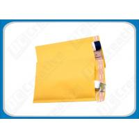 China 8.5 × 14.5 Yellow Air Jacket Bubble Mailer Envelopes , Custom Mailing Bubble Envelopes on sale