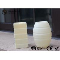 China Plastic Material Led Pillar Candles With Flat Top Striped Candle Set wholesale