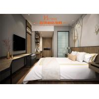 China Simple Hotel Apartment Bedroom Sets With Kitchen Wood And Metal Material on sale