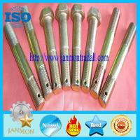 Special Hex Head Bolt With Hole,Zinc galvanized hex bolt with holes in neck,Zinc plated hex had bolt with holes,hex bolt