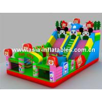 China Coloful Inflatable Fun City / Inflatable Colorful Playground For Children Games on sale