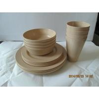 China Eco Bamboo Fiber dinnerware set wholesale