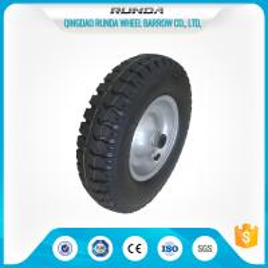 China Steel Rim Pneumatic Rubber Wheels 20mm Inner Hole Ball Bearing 150kgs Loading wholesale