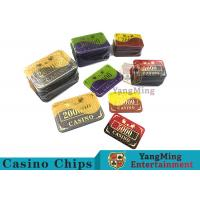 Crystal Acrylic Casino Poker Chips With Win bronzing 94 * 66mm for sale