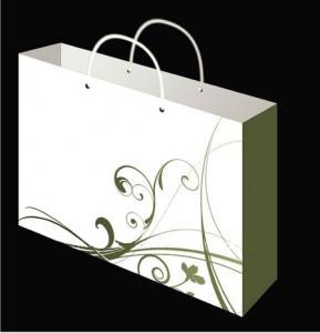China Embossing & Silk Printing White Card Paper Bag wholesale