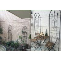 China Black Color Garden Plant Trellis / Metal Garden Trellis Simple Understated Design wholesale