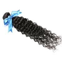 Cuticle virgin Brazilian hair weave ,deep curly (water curly)