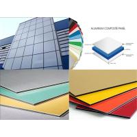 China 3mm / 4mm Thickness Aluminum Composite Metal Panels Anti-Static , Fireproof wholesale