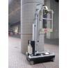 China Único elevador para trabalhos do dispositivo bonde, plataforma do mastro de trabalho automotora da altura de 6.2m wholesale