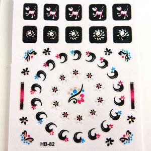 China Animal pattern Nail Art Decals non toxic Printing nail stickers wholesale