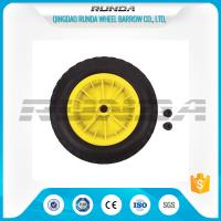 China Inflatable Pneumatic Rubber Wheels 16mm Inner Hole Plastic Rim Bush Bearing 3.50-8 wholesale