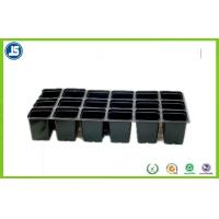 China Black Plastic Flower Pot Trays Blister Packaging Tray With QS IS9001 wholesale