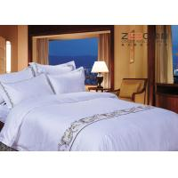 China Various Sizes Hotel Bed Linen Sheets Classical Embroidery Pattern wholesale