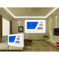 China Blue Backlight Digital Wired  Room Thermostat For Electric Heating System wholesale