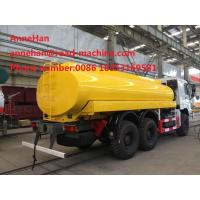 Howo Water Tank Truck 6x4 16000l Sinotruk 371hp 12.00R20 Radial Tire Can Option Q235Material