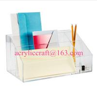 China Factory acrylic office suppliers clear acrylic desktop organizer wholesale